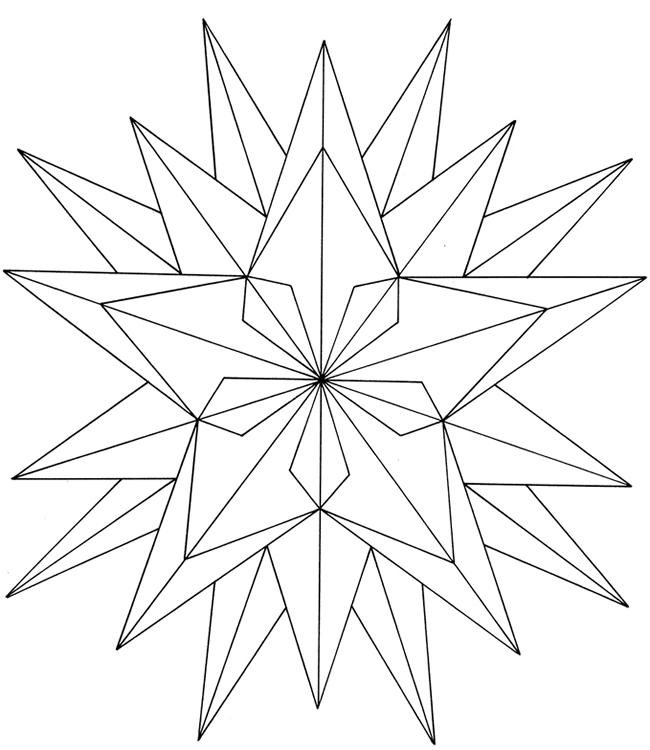 Free ColoringPainting Page Geometric Star
