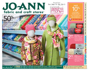 Checking out JoAnn Fabrics for quilting classes and unusual
