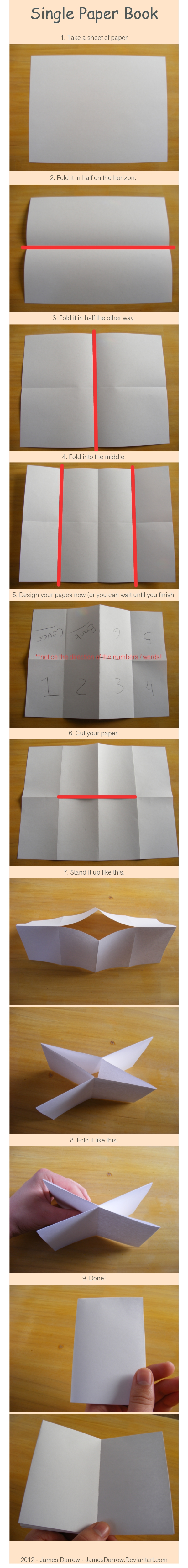 How To Make A Foldable Mini Book From One Sheet Of Paper