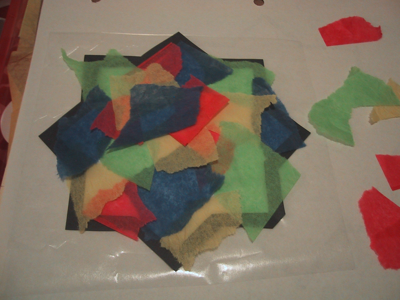 Tissue paper stained glass eid craft decorate jeuxipadfo Gallery