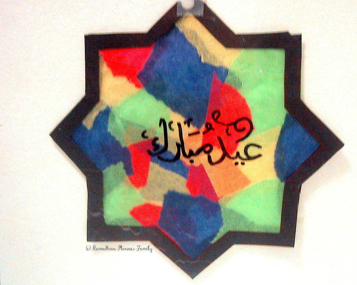 Tissue paper stained glass eid craft tissue jeuxipadfo Gallery