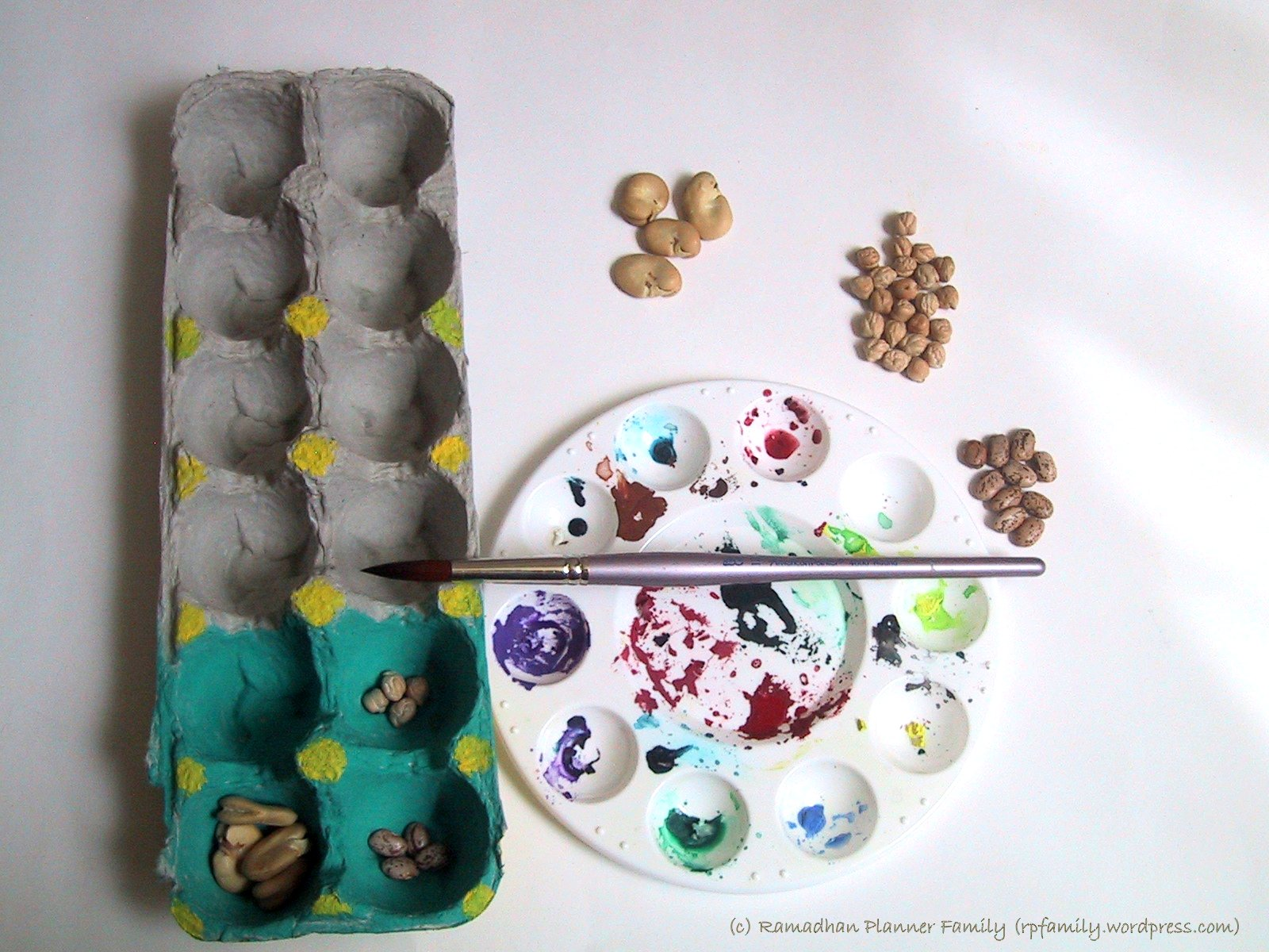 Egg Carton Mancala Up Cycled Egg Carton