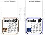TableTop Islamic Mini Black/White Text