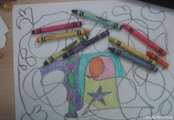 Crayon line art